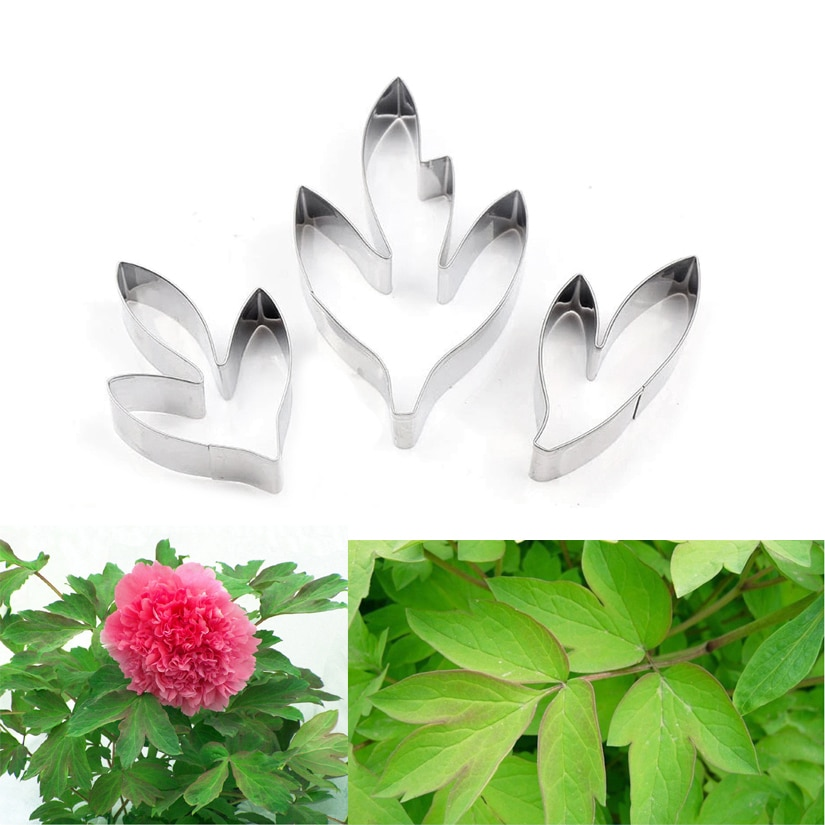 Fondant Cakes Cutter Set Decorating Tools Flower Set Peony Flower Leaves Cutters Set Stainless Steel Fondant Cakes Decorating Tools Pastry Cutters Bakeware