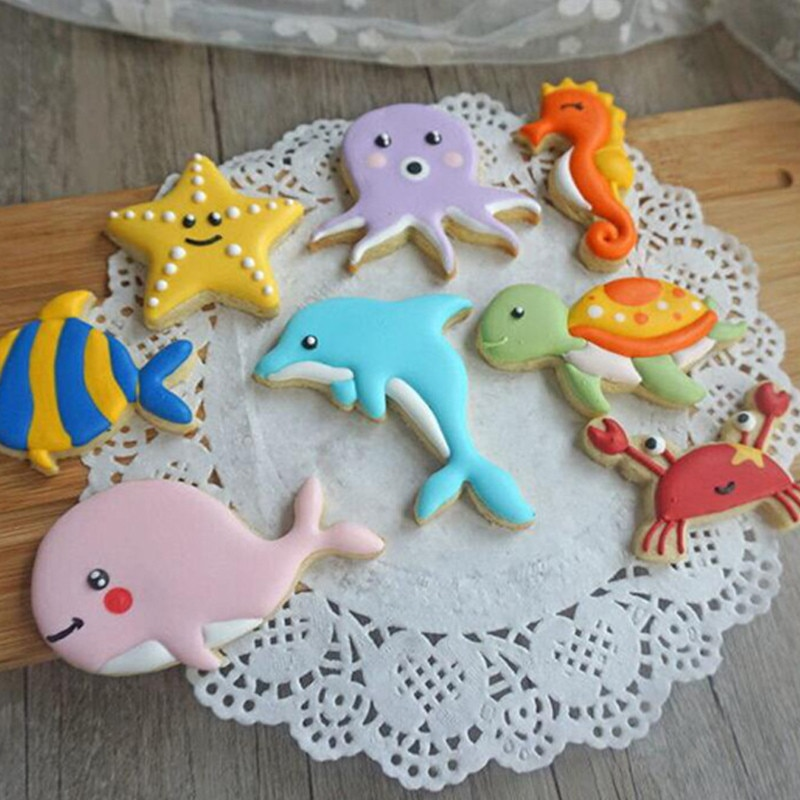 Biscuits Cutters Cookie Cutter Chocolate Biscuit Biscuit Mold Ecofriendly Plastic Sea Theme Cookie Cutter Mini Biscuit Cutters Kids Chocolate Biscuit Decor Tool