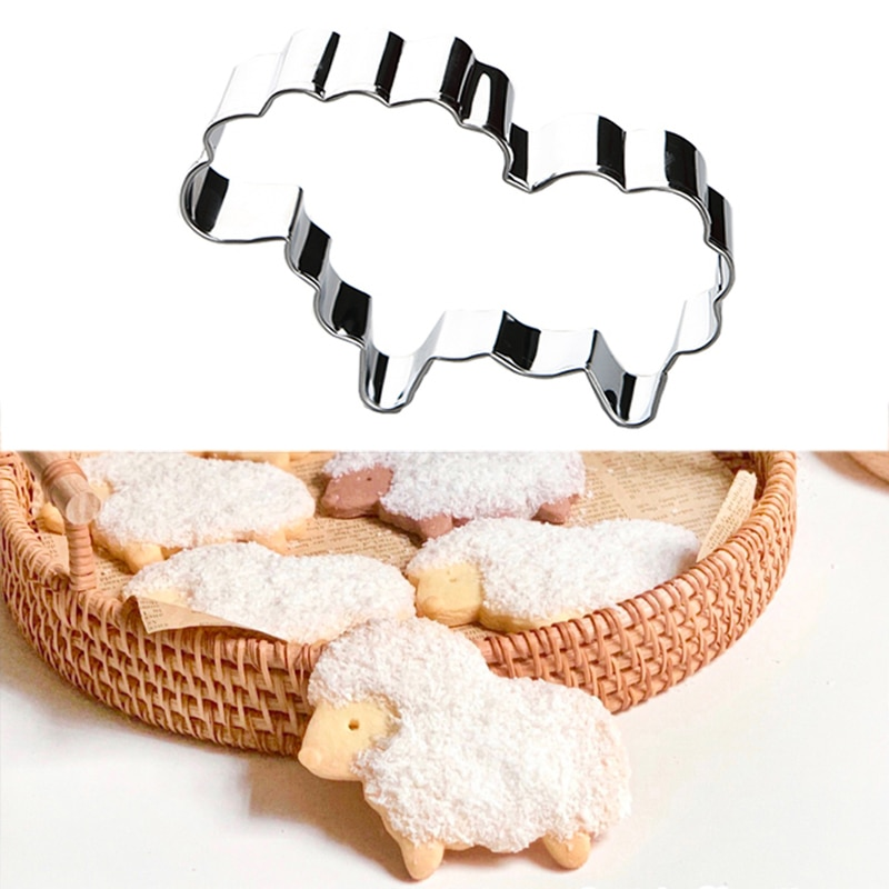 Cookie Cutter Baking Decor Modelling Tools Steel Mold Sheep Shape Cookie Stainless Steel Mold Easter Kitchenware Cookie Cutters Baking Decor Pastry Tools