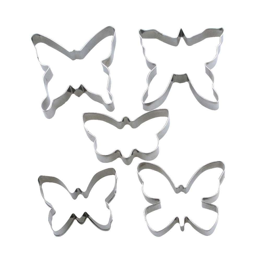 Pastry Slicer Butterfly Cookie Baking Tools Cake Fondant Top Quality Butterfly Cookie Plunger Cutters Mould Baking Tools Cake Fondant Dough Ice Pastry Slicer