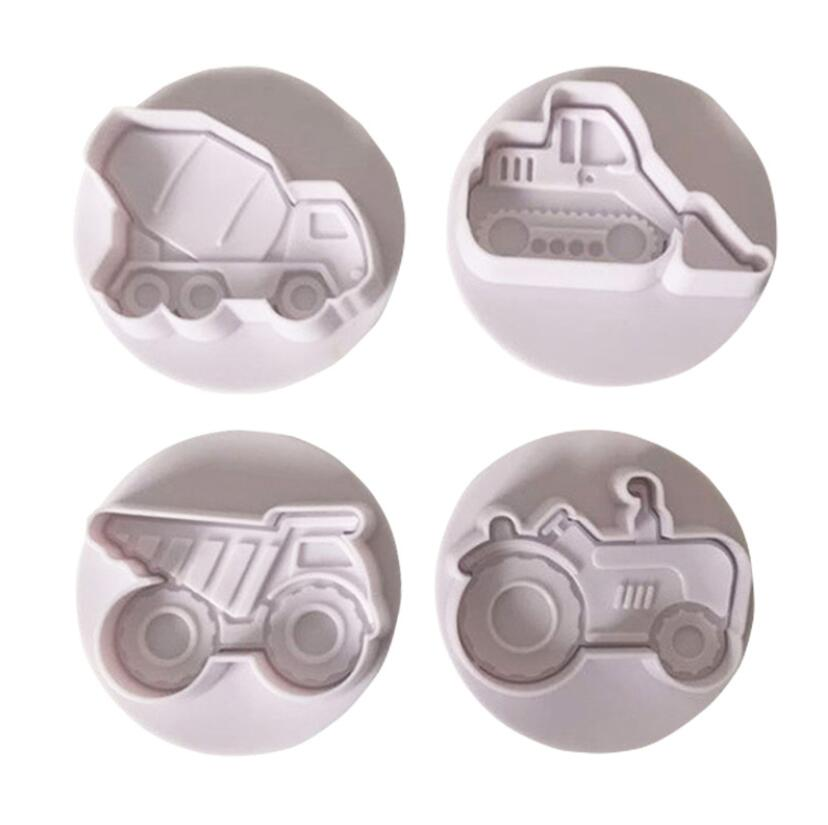 Decorating Tools Candy Molds Cookie Cutters Mold Cake Airplane Vehicle Tank Car Shape Plastic Biscuit Cookie Cutters Fondant Pastry Mold Decorating Tools
