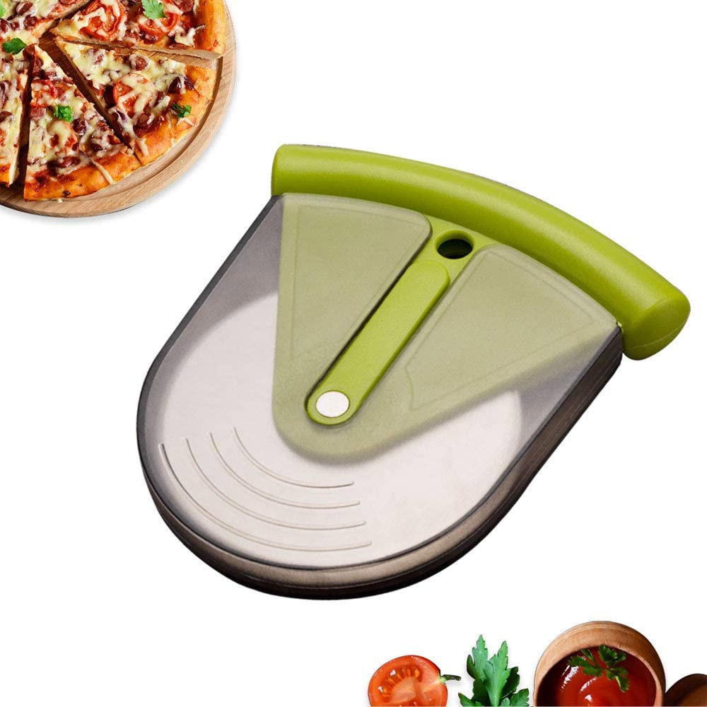 Cutter Slicer Dough Cookies Sharp Blade Pizza Tools Creative Pizza Cutter Slicer Single Wheel With Protective Guard Sharp Blade Cover Pizza Pies Waffles Tools