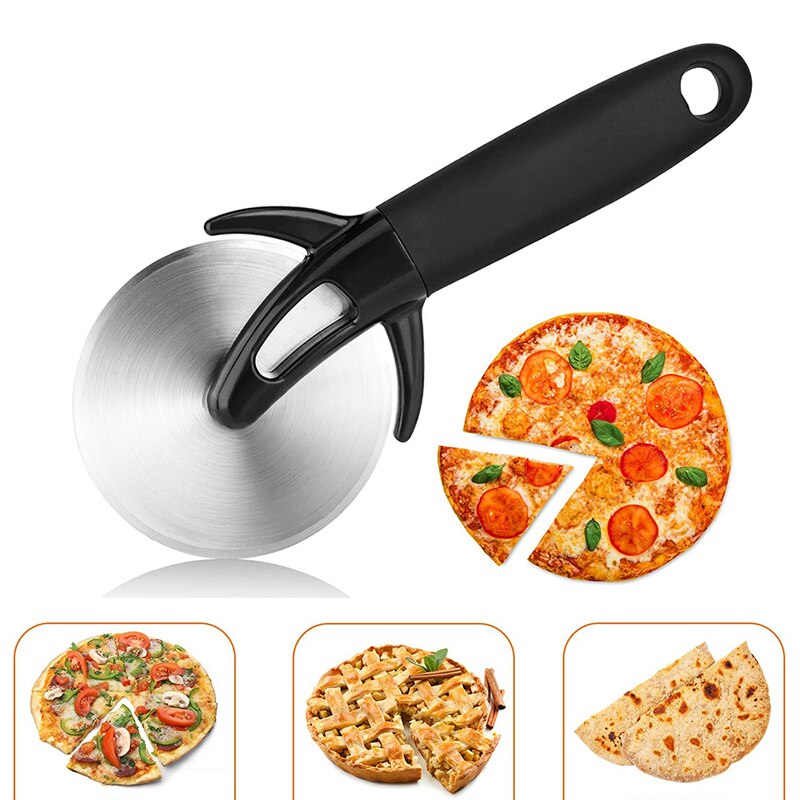 Pizza Cutter Cake Bread Wheel Tools Pizza Pies Stainless Steel Pizza Cutter with Cover Pizza Cutter Wheel with Anti Slip Handle Knife Cake Bread Wheel Tools