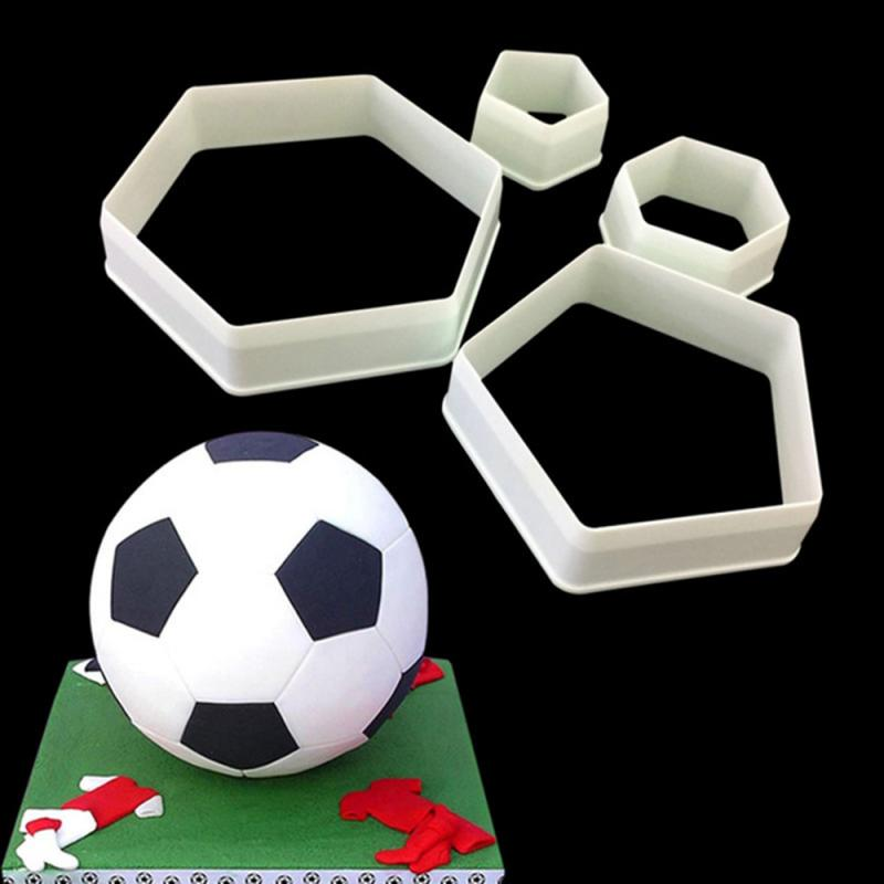 Baking Tools Cookie Cutter Cake Mold Fondant Cake Football Cookie Cutter Biscuit Cake Mold Plastic Soccer Decoration Cutters Sugarcraft Fondant Cake Tools