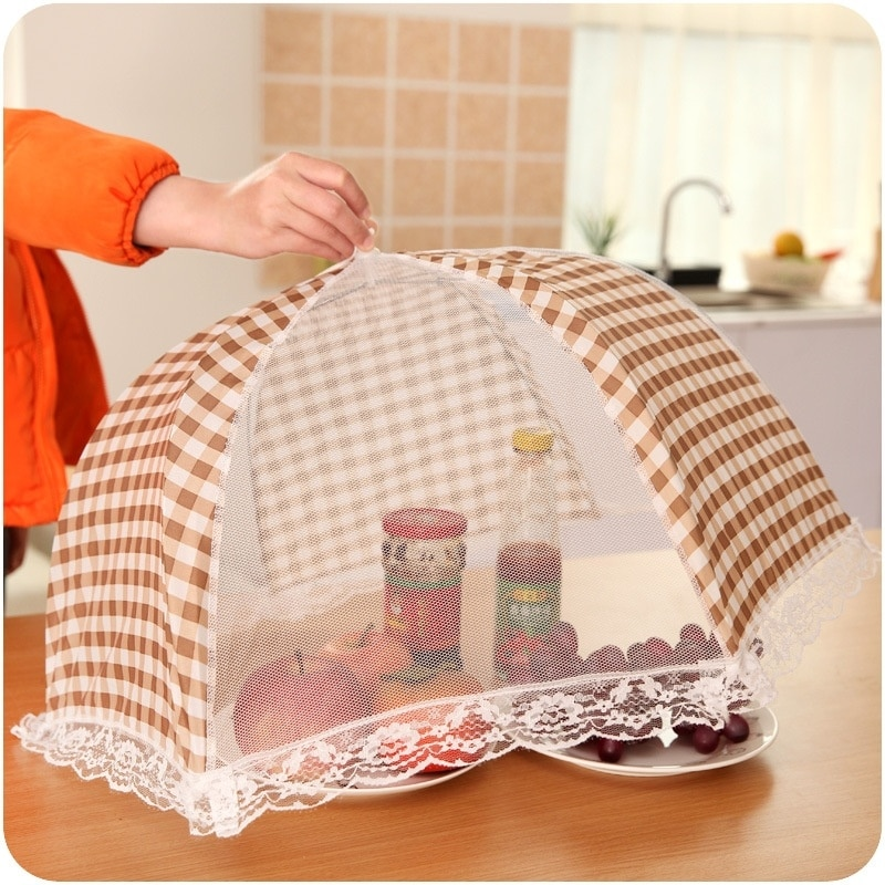 Food Covers Table Mesh Cooking Tools Meal Cover Foldable Table Food Cover Umbrella Style Anti Fly Mosquito Kitchen Cooking Tools Meal Cover Table Mesh