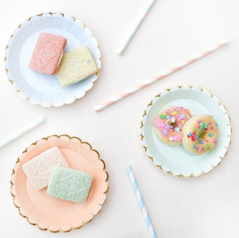 Paper Plate Disposable Party Plastic Plates Party Supplies Plastic Plates Paper Plate Disposable Party Tableware Vaisselle Dessert Wedding Birthday Table Decor