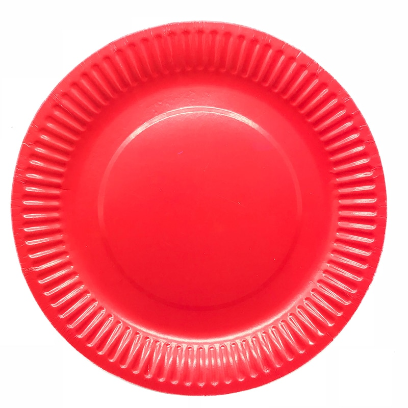 Paper Plates Disposable Dishes Red Plate Wedding Plates Red Disposable Tableware Wedding Birthday Party Decorations Solid Color Disposable Dishes Plates
