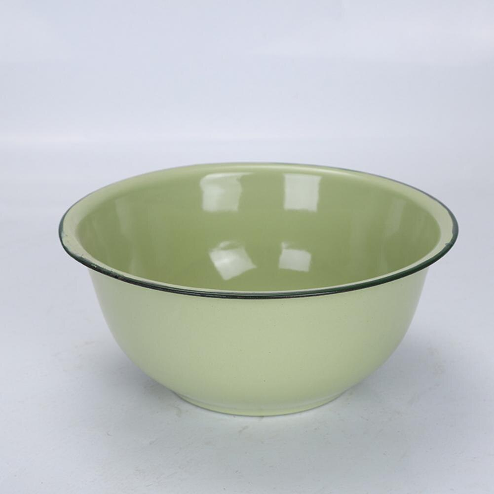 Dinner Bowl Plate Bowls Healthy Dinner Bowls Outdoor Plates and Bowls Enamel Bowl Thickened Nostalgic Green Salad Pasta Soup Basin Dinner Bowl Decoration
